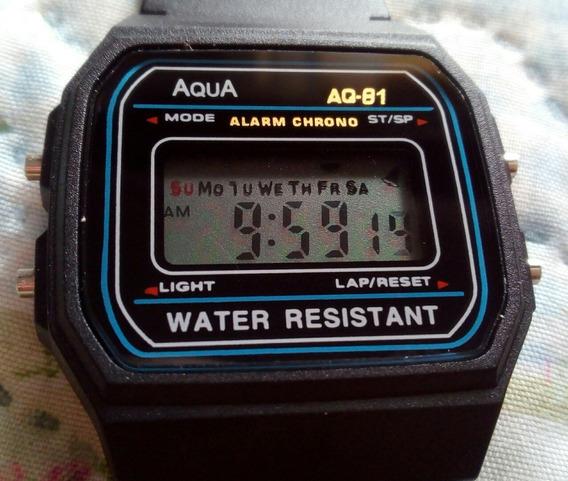 Relógio Retrô Vintage Digital Cronômetro A Prova D