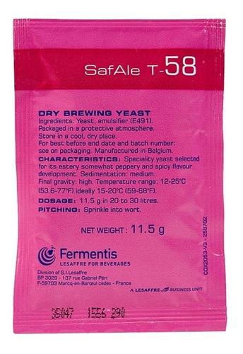 Levadura Fermentis Safale T58 X 11,5 Gr