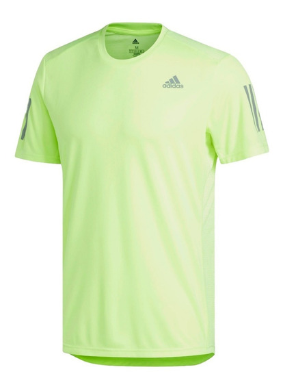 adidas Remera M/c Running Hombre Own The Run Verde Claro