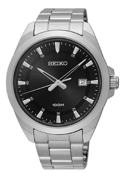 Relógio Seiko Masculino Prateado Aço Original Sur209b1 P1sx