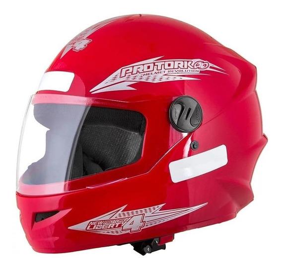 Capacete para moto integral Pro Tork New Liberty Four vermelho tamanho 60