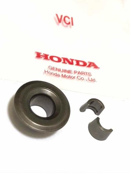 Kit Prato + Travas De Válvula Honda Cg Titan 125 2003 A 2008