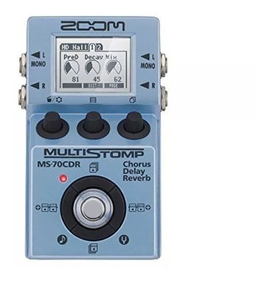 Zoom Ms 70cdr Pedal Pedaleira Multi Efeito Stomp