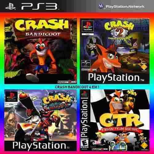 Crash Bandicoot 1 2 3 + Team Racing - Jogos Ps3 Original
