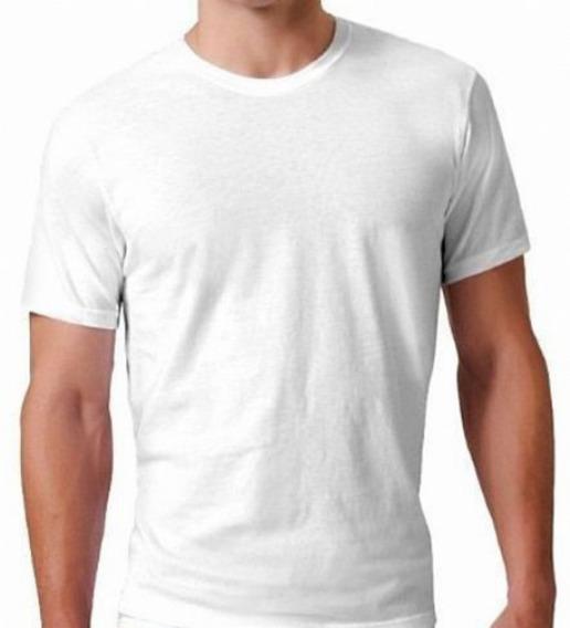 Camisa Camiseta Masculina Manga Curta Algodão Branca