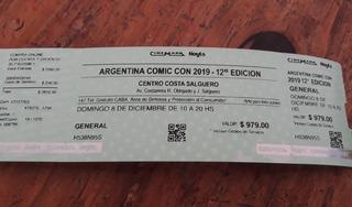 Entrada Para Comic Con 8 De Diciembre 2019