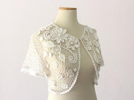 Saquitos Bolero Casamiento Fiesta En Crochet Irlandés