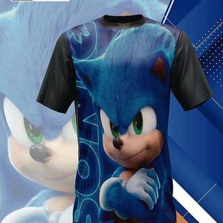 Camiseta Sonic Freefire Fortnite Goku Dragon Ball Naruto