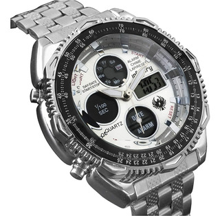 Reloj Infantry Dual Led Digital Acero Inox Colores Original