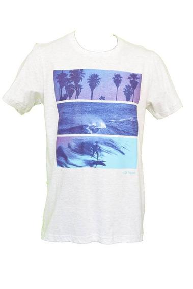 Remera Topper Palms Waves Gris Hombre