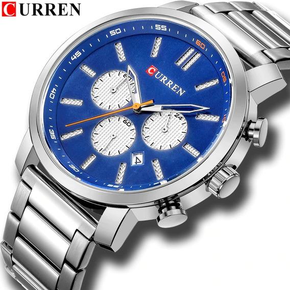 Relógio Pulso - Curren - 46mm - Multifuncional - Hardlex