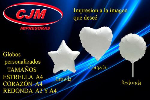 Globos Personalizados, Imprimibles A4 Y A3