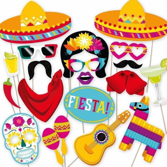 Fiesta Photo Booth Props By Partygraphix. Perfect For Mexica