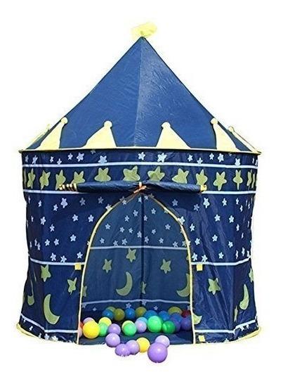 Ediors Blue Pop Up Plegable Príncipe Play Carpa Niños Castil