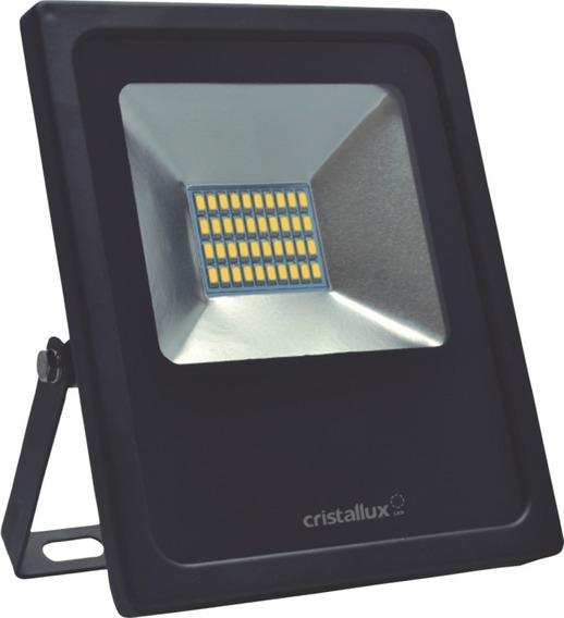 Refletor Led Slim 10w Luz Verde Bivolt Ip65 Cristallux