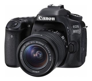 Canon EOS 80D 18-55mm IS STM Kit DSLR negra