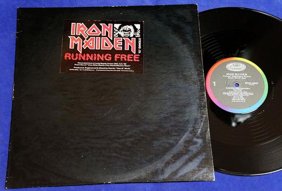 Iron Maiden - Running Free - 12 Single - 1985 - Usa Promo