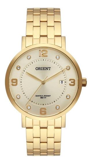 Relogio Orient Feminino Dourado Original Fgss1165 C2kx + Nfe