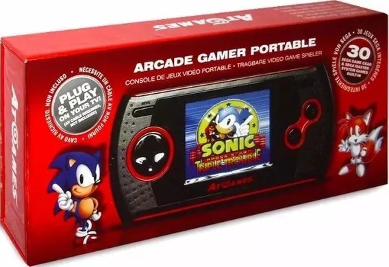 Arcade Gamer Portable Atgames Master System Game Gear Novo