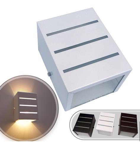 Arandela Frisada + Lâmpada Led 12w Luminária Aluminio St298
