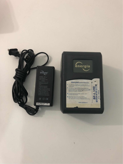 Bateria E Carregador Energia Bp-l190 P/ Panasonic