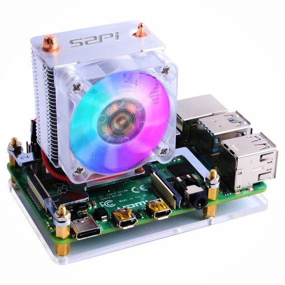 Case Raspberry Pi4 Pi 4 - Cooler + Dissipador - P/ Overclock