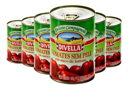 Imagem 1 de 1 de 6x Tomate Pelado Italiano Divella 400g