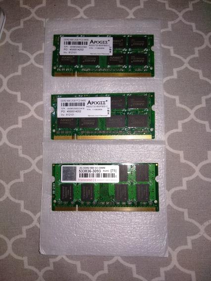 Memória Notebook Ddr2 4gb (2x2gb) 800mhz - Apogee