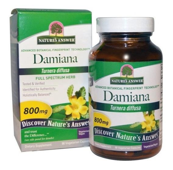Damiana Hoja 800 Mg 90 Capsulas Vegetarian