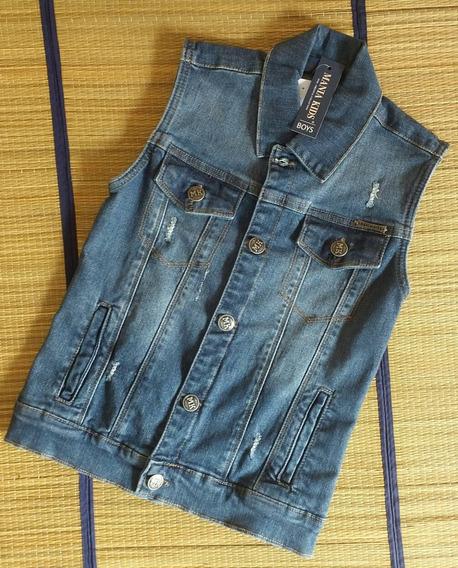 Colete Jeans Menino Mania Kids Tamanho 2