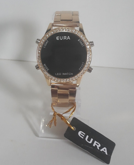 Lindo Relógio Digital Feminino Metal+caixa Compre Já O Seu