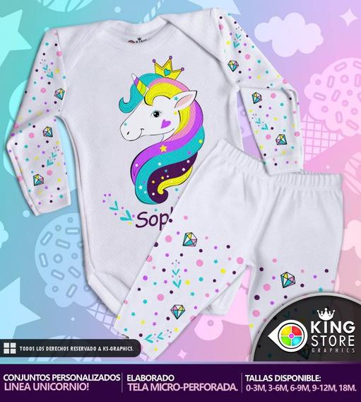 Conjuntos De Bebe Personalizados / Linea Unicornio!