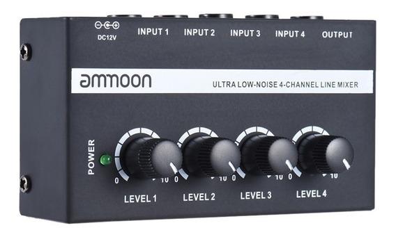 Mixer 4 Canais Mx400 Ammoon Frete Grátis E Pronta Entrega