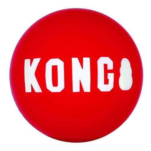 Imagem 1 de 2 de Kong Signature Ball Small Pequeno Brinquedo Bola Apito Cães