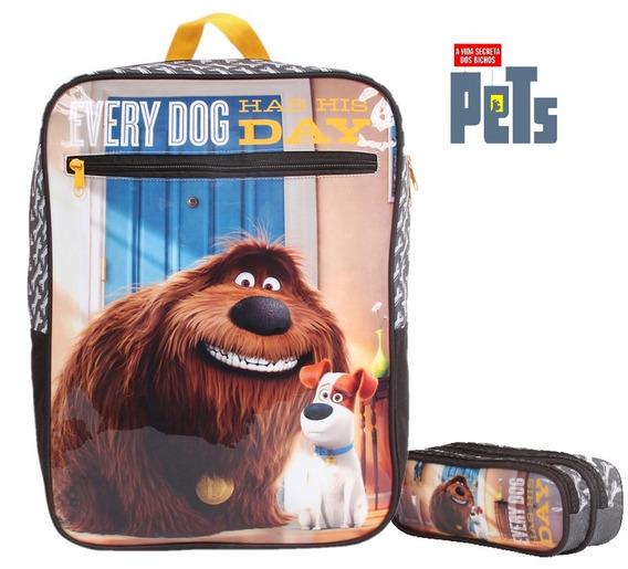 Mochila Pets Duke Max 30361 + Estojo Duplo