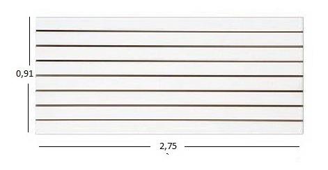 Painel Canaletado Branco De 0,91 X 2,75