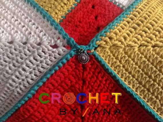 Top Dama A Crochet Geométrico