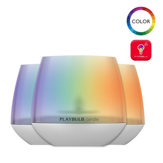 Luminaria Vela Playbulb Led Rgb Bluetooth Decoração Kit 3pc