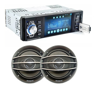Combo Stereo Pantalla 4 Usb Sd Mp5 + Parlantes 5 Audio Car