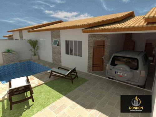 Casa Com 2 Dormitórios À Venda, 70 M² Por R$ 305.000 - Cibratel Ii - Itanhaém/sp - Ca1426