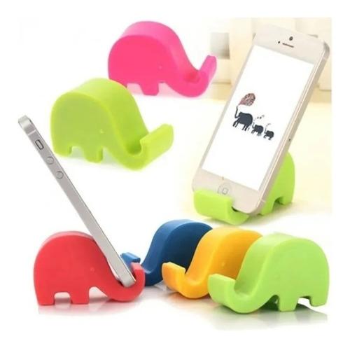 Soporte Celular Elefante Plástico Colores Apoya Celu