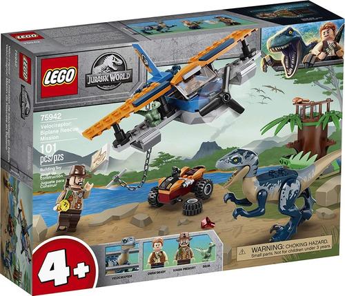 Lego Jurassic World 75942 Rescate En Biplano 101 Pzs