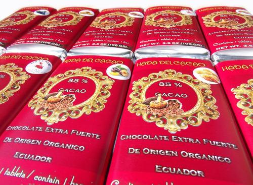 Pack X 6 Chocolate 85% Cacao Stevia Con Almendras (600gr)