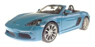 Miniatura Porsche 718 Boxter Azul Bburago 1/24
