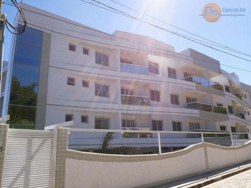 Lindo Apartamento Com 2 Dormitórios À Venda, 69 M² Por R$ 320.000 - Costazul - Rio Das Ostras/rj - Ap0089