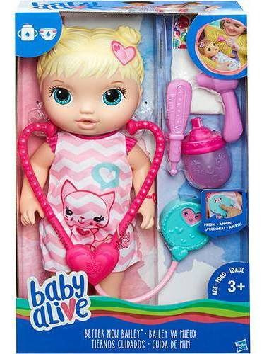 Boneca Baby Alive Cuida De Mim - Loira- Hasbro