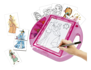 Pizarra Dibujo Luz Disney Princesas Fashion Designer Ditoys