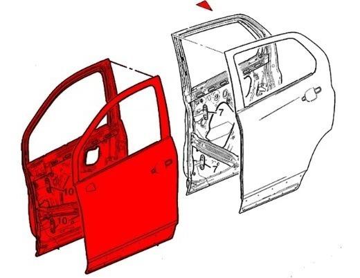 Porta Dianteira Lado Esquerdo Tracker 2014/---- 95315620 Gm