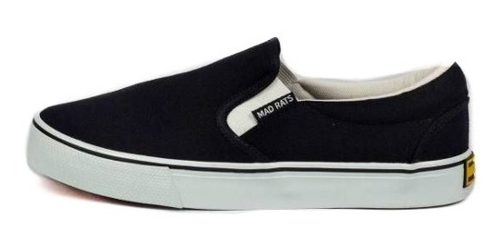 Tênis Mad Rats Slip On Preto E Branco Original Lona Novo