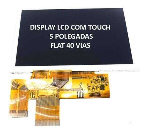 Display Lcd Com Touch 5 Polegadas Phaser Fun Tab 40 Vias